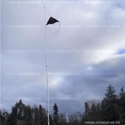 Erfolgreiche Kormoranabwehr mit Drachen Vogelscheuche.