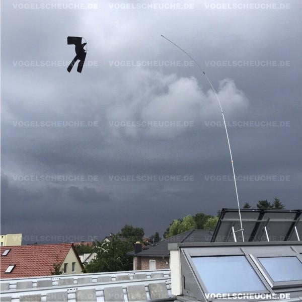 Vogelscheuchen Drachen System-Einsatz auf dem Flachdach