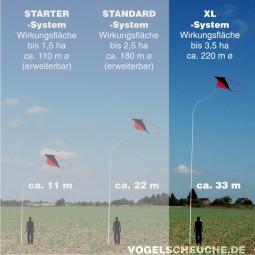 Vogelscheuchen Drachen System 3,5 ha XL